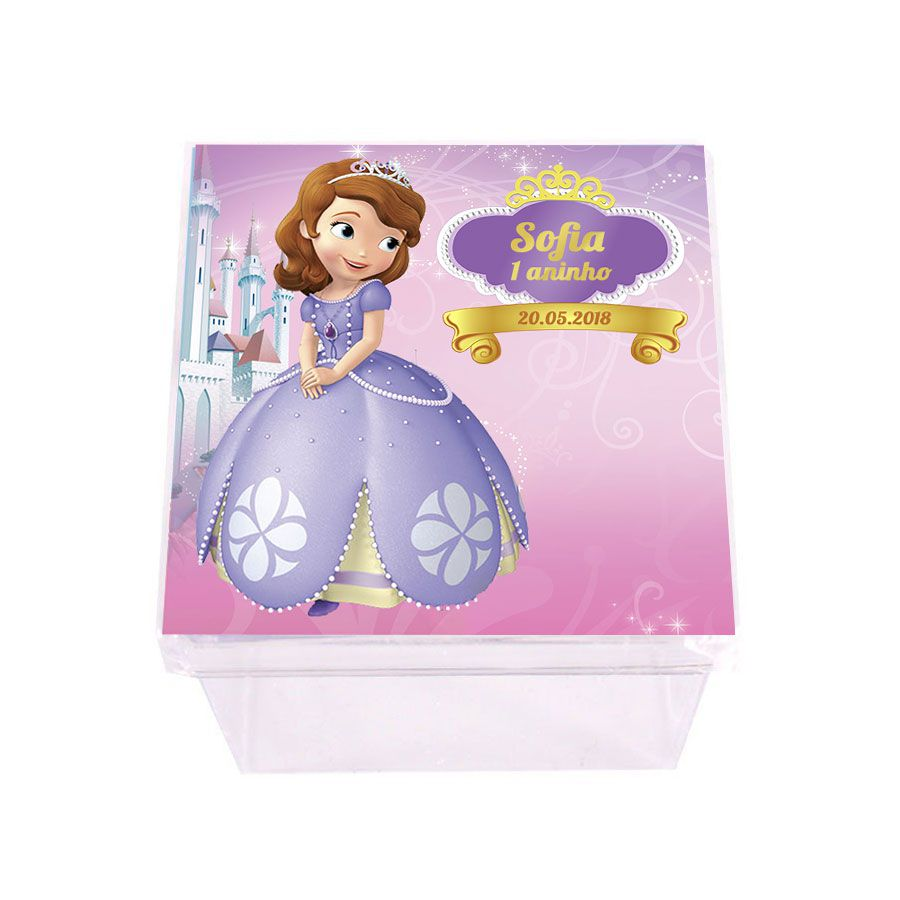 Lembrancinha Caixinha Personalizada Princesinha Sofia