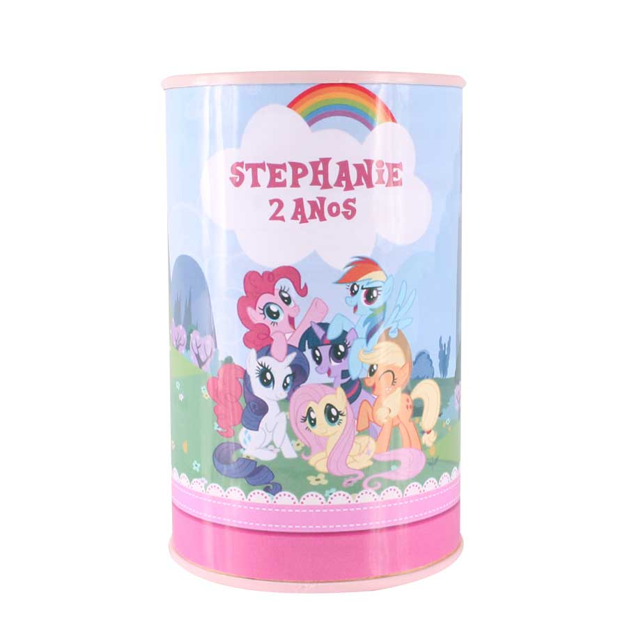 Lembrancinha Cofrinho Personalizado My Little Pony