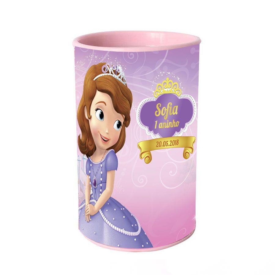 Lembrancinha Cofrinho Personalizado Princesinha Sofia