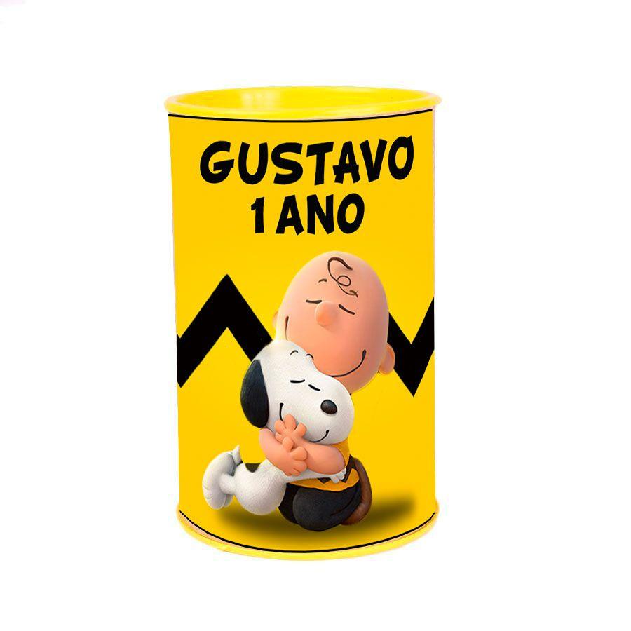 Lembrancinha Cofrinho Personalizado Snoopy