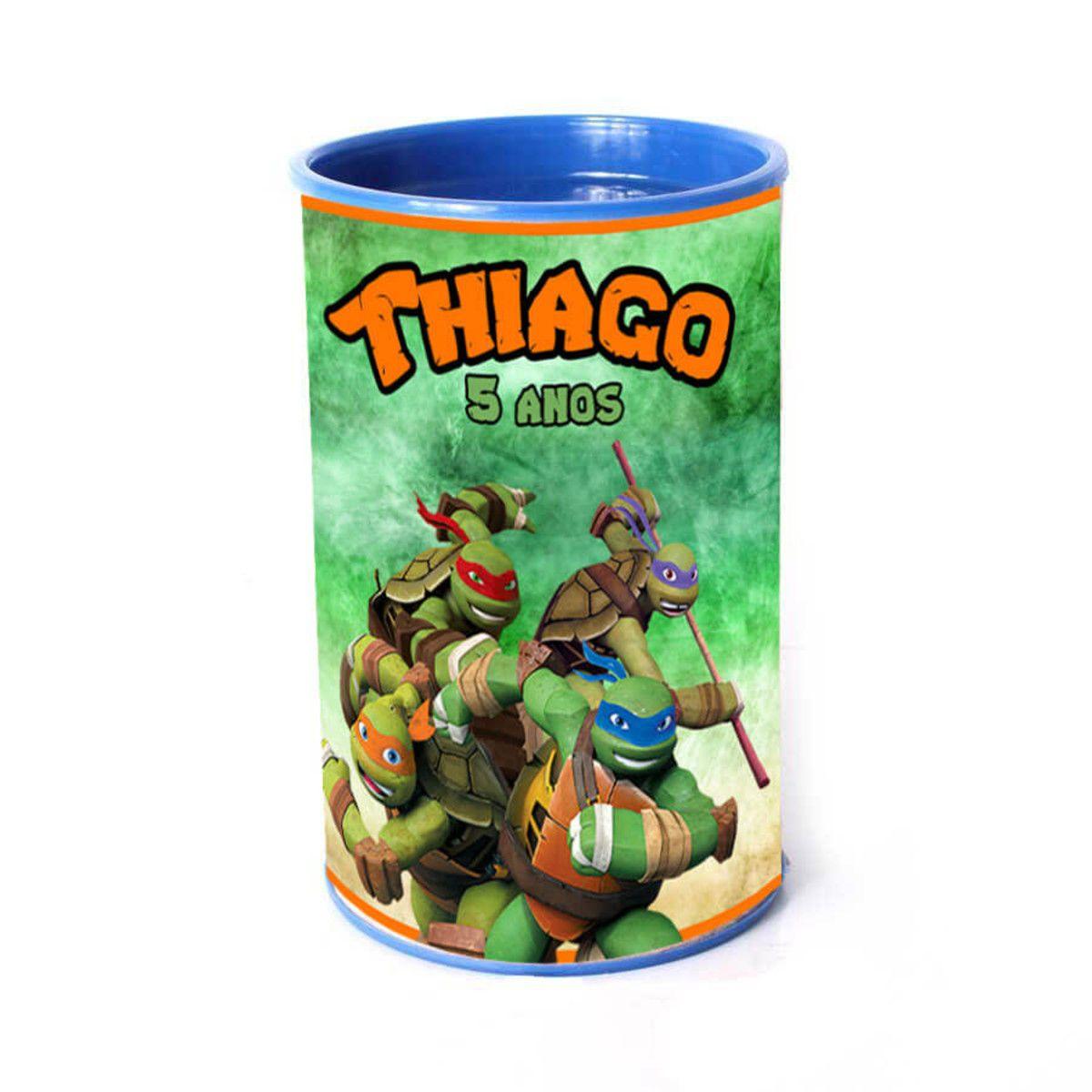 Lembrancinha Cofrinho Personalizado Tartarugas Ninja