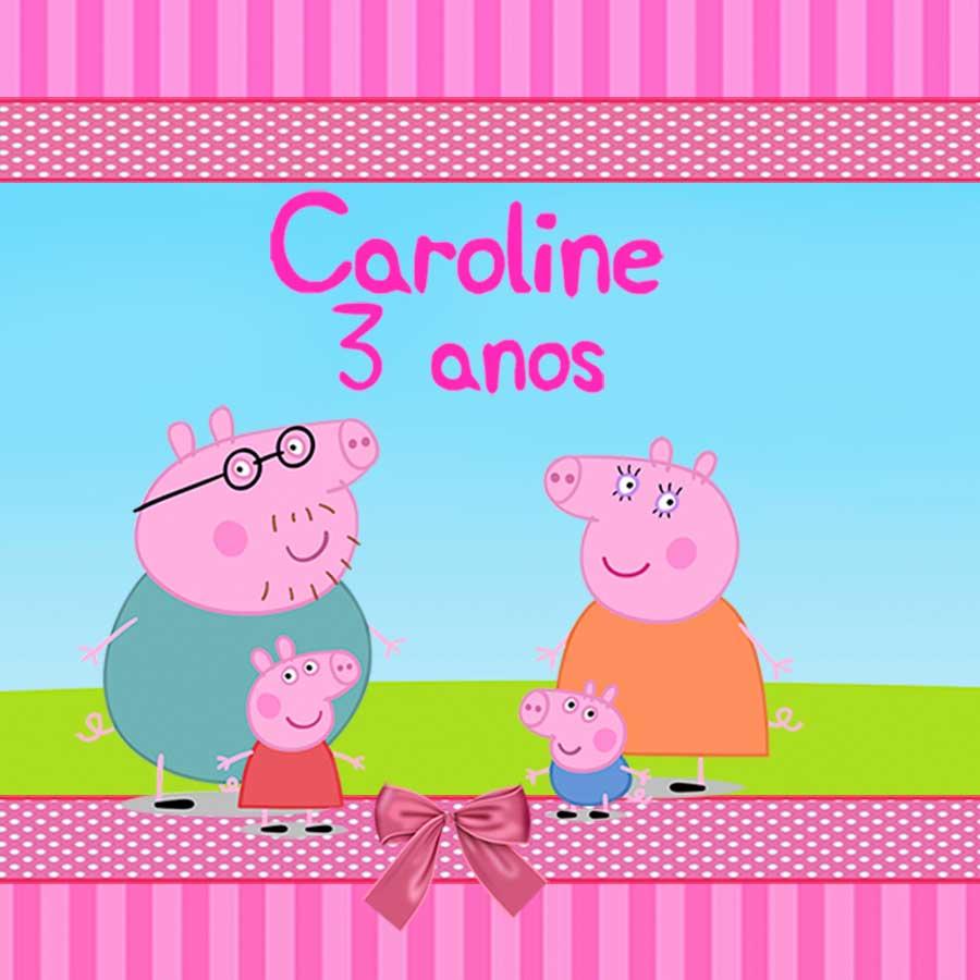 Lembrancinha Garrafa Coquinho 200ml Personalizada Peppa Pig