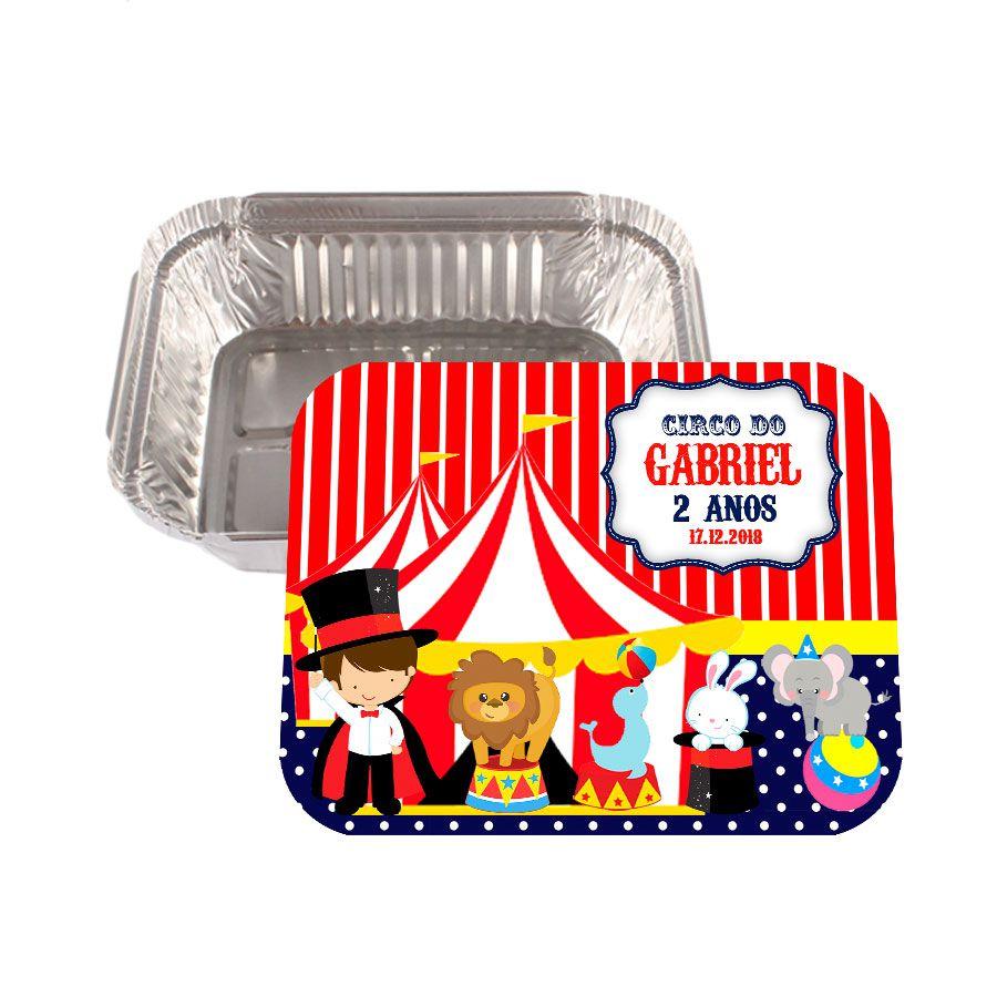 Lembrancinha Marmitinha Personalizada Circo