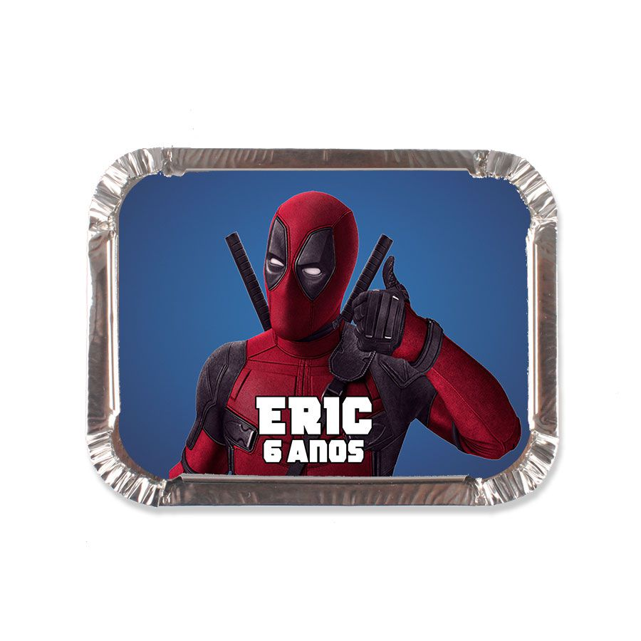 Lembrancinha Marmitinha Personalizada Deadpool