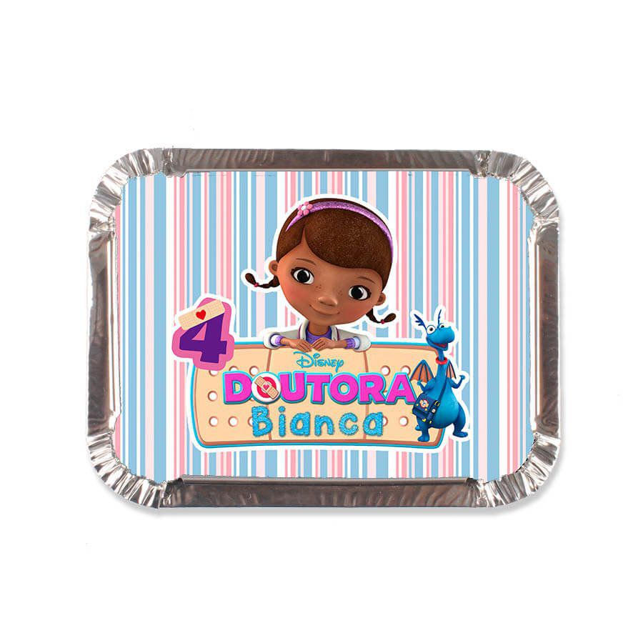 Lembrancinha Marmitinha Personalizada Doutora Brinquedos - Aluá Festas 68aae9295b554