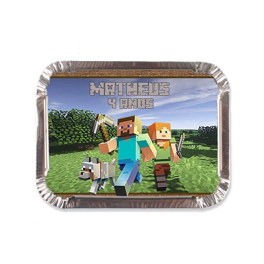 Lembrancinha Marmitinha Personalizada Minecraft - Aluá Festas 4076af852164e