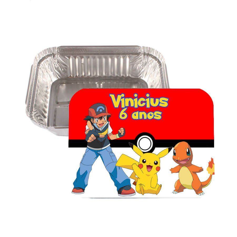 Lembrancinha Marmitinha Personalizada Pokemon - Aluá Festas 6616231b76223