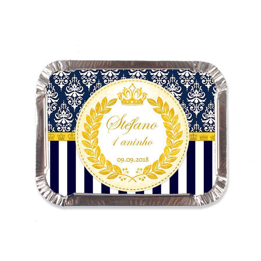 Lembrancinha Marmitinha Personalizada Realeza Azul - Aluá Festas 5c87afb3a55c6