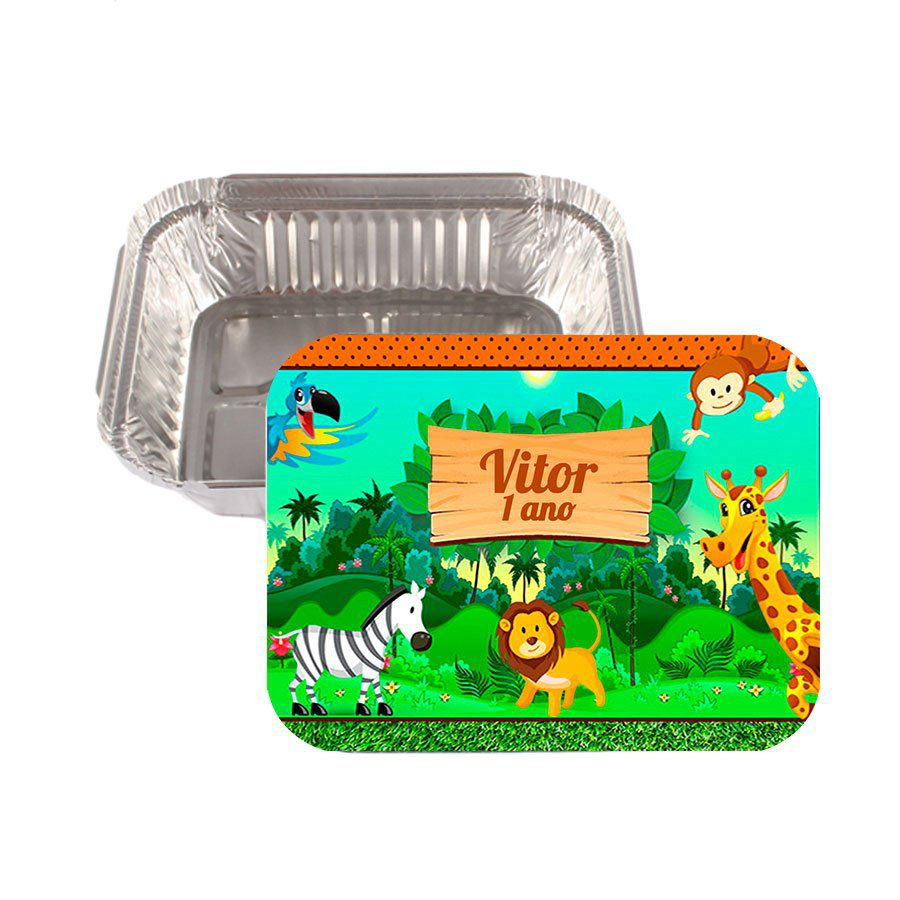 Lembrancinha Marmitinha Personalizada Safari - Aluá Festas f9d3f6847c3ee