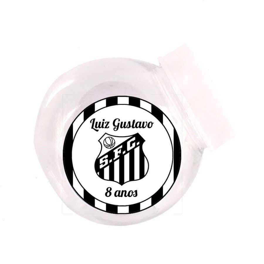 Lembrancinha Mini Baleiro Personalizado Santos - Aluá Festas ad5280087b213