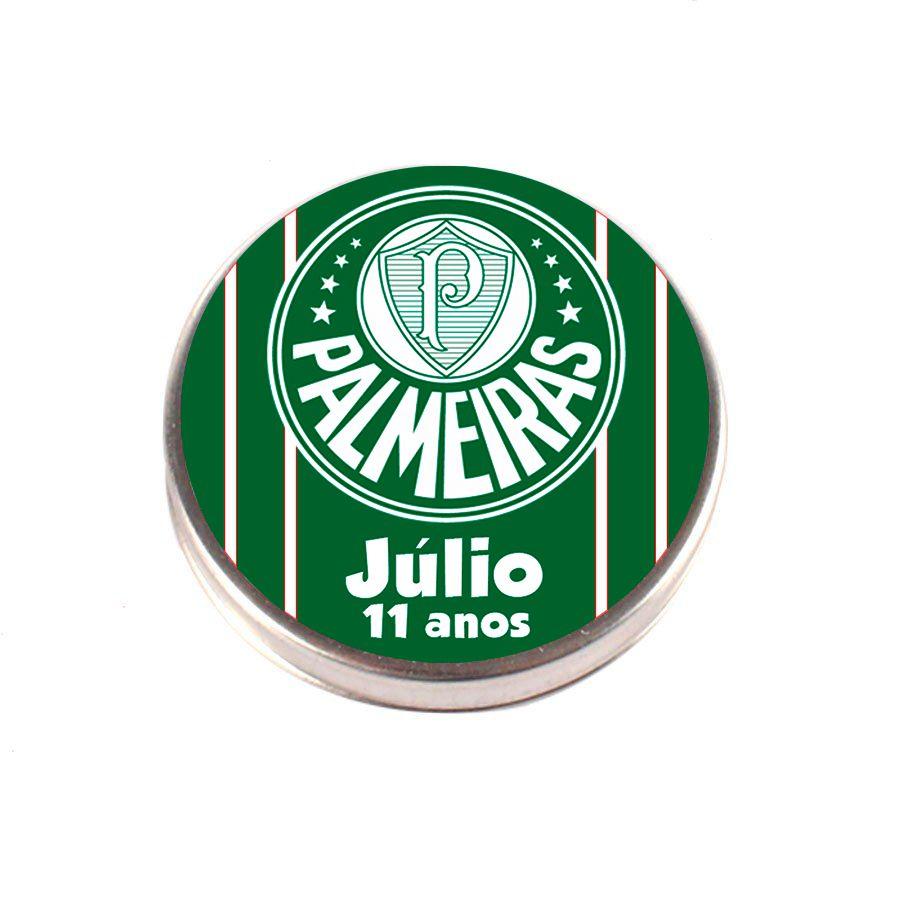 Lembrancinha Potinho De Alumínio Personalizado Palmeiras