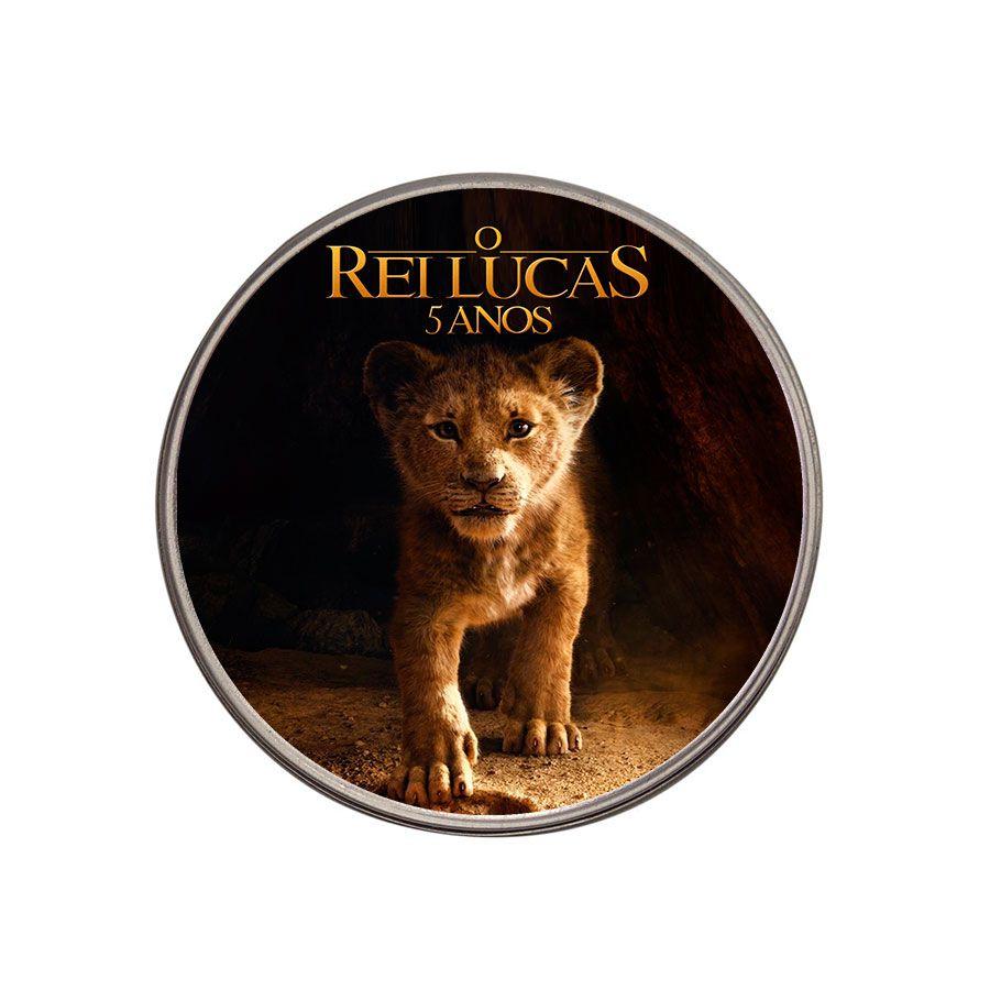 Lembrancinha Potinho De Alumínio Personalizado Rei Leão Filme