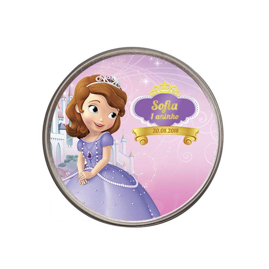 Lembrancinha Potinho Personalizado Princesinha Sofia