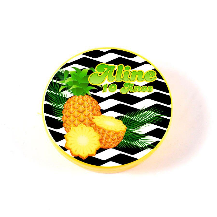 Lembrancinha Potinho Plástico Personalizado Abacaxi