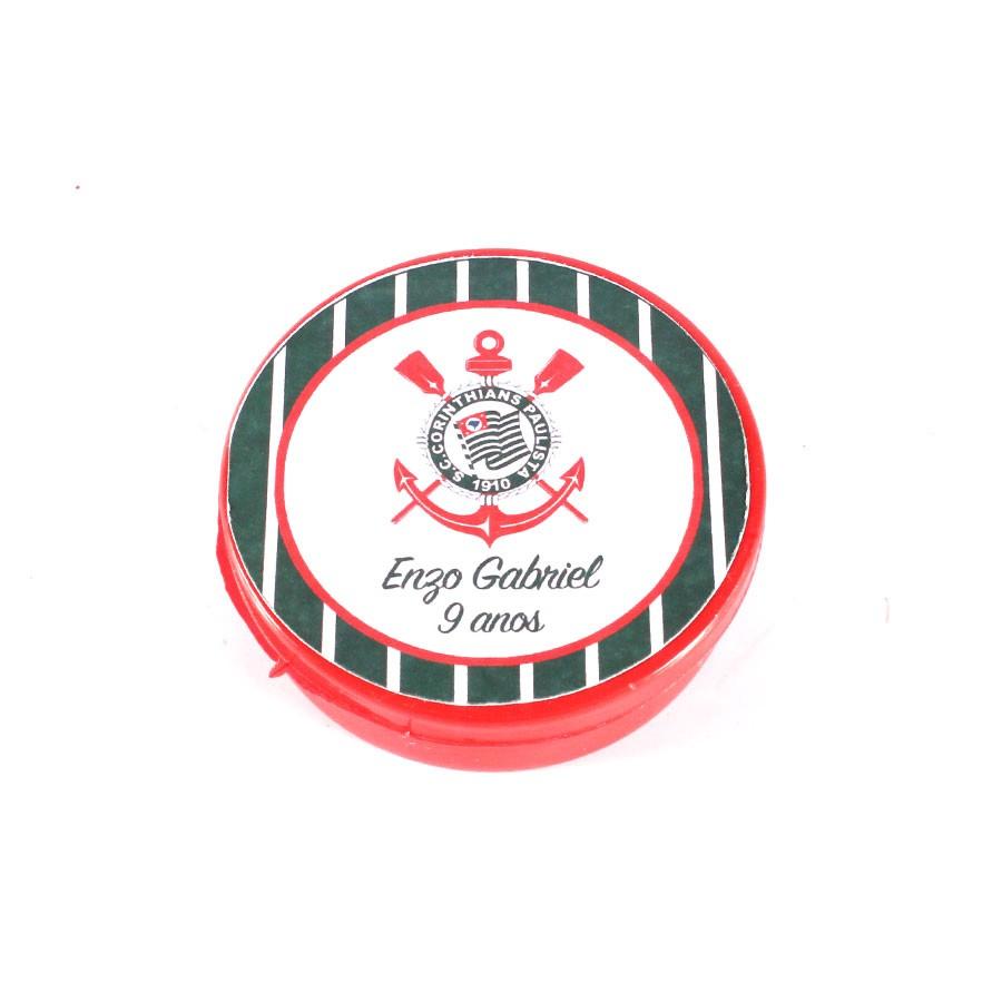 Lembrancinha Potinho Plástico Personalizado Corinthians