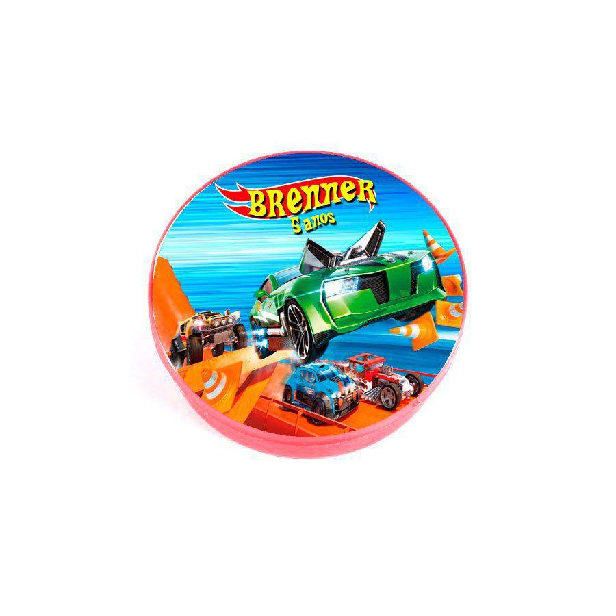 Lembrancinha Potinho Plástico Personalizado Hot Wheels