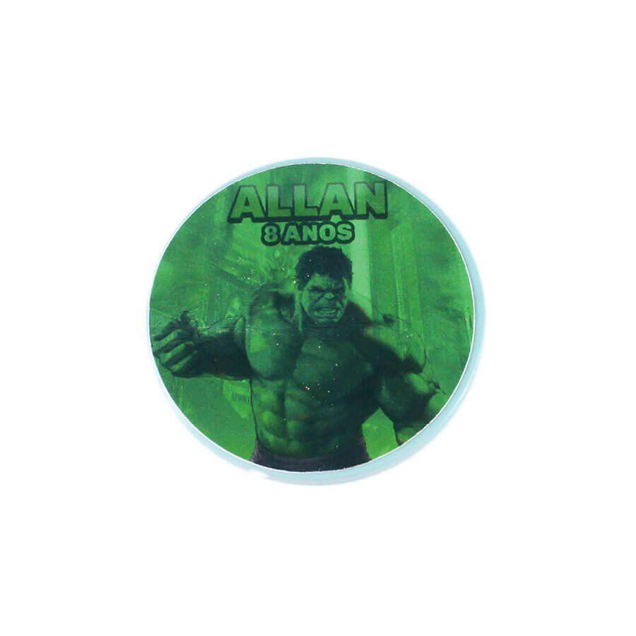 Lembrancinha Potinho Plástico Personalizado Incrível Hulk