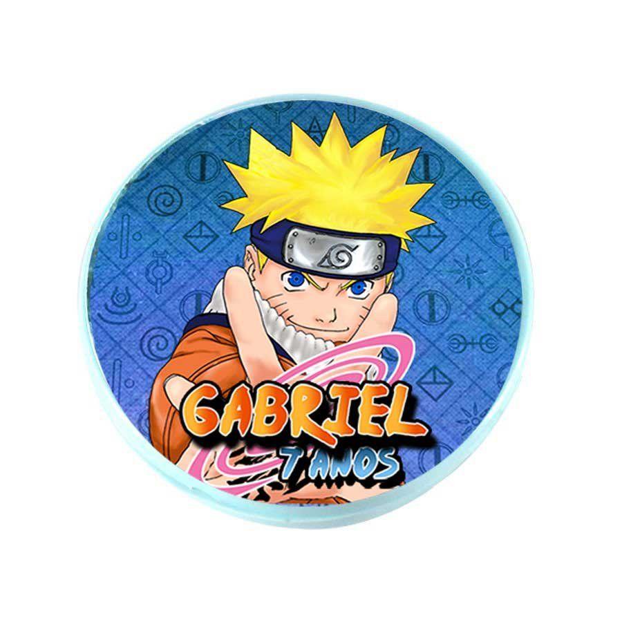 Lembrancinha Potinho Plástico Personalizado Naruto