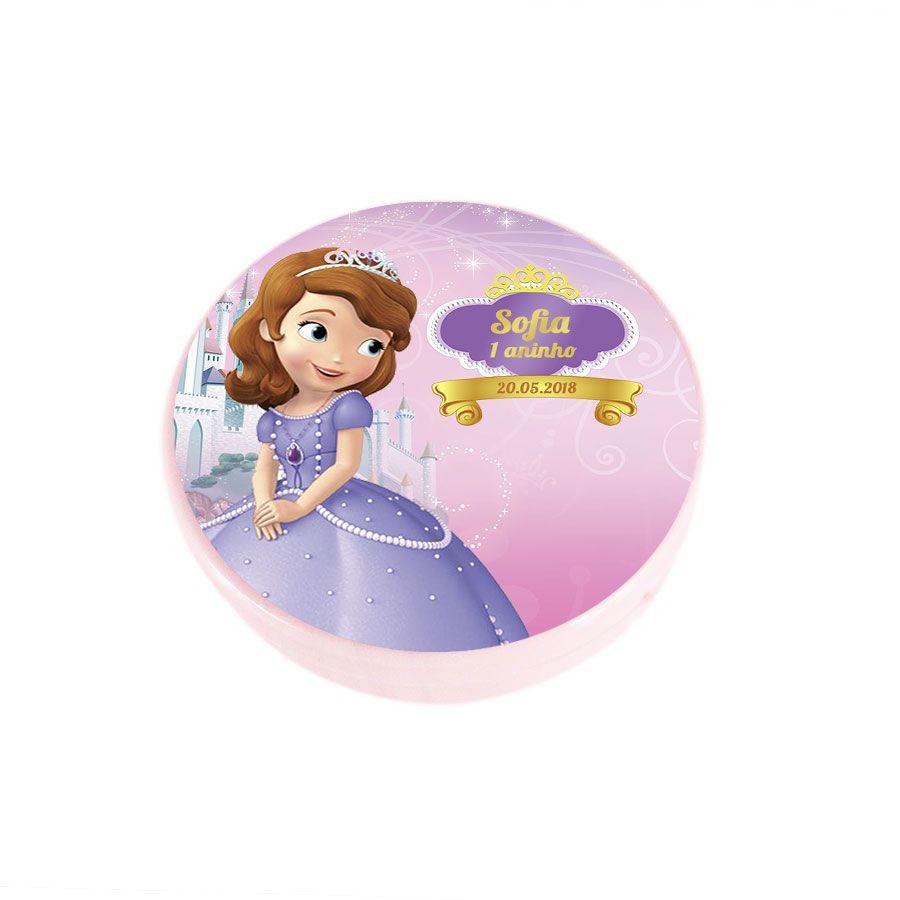 Lembrancinha Potinho Plastico Personalizado Princesinha Sofia