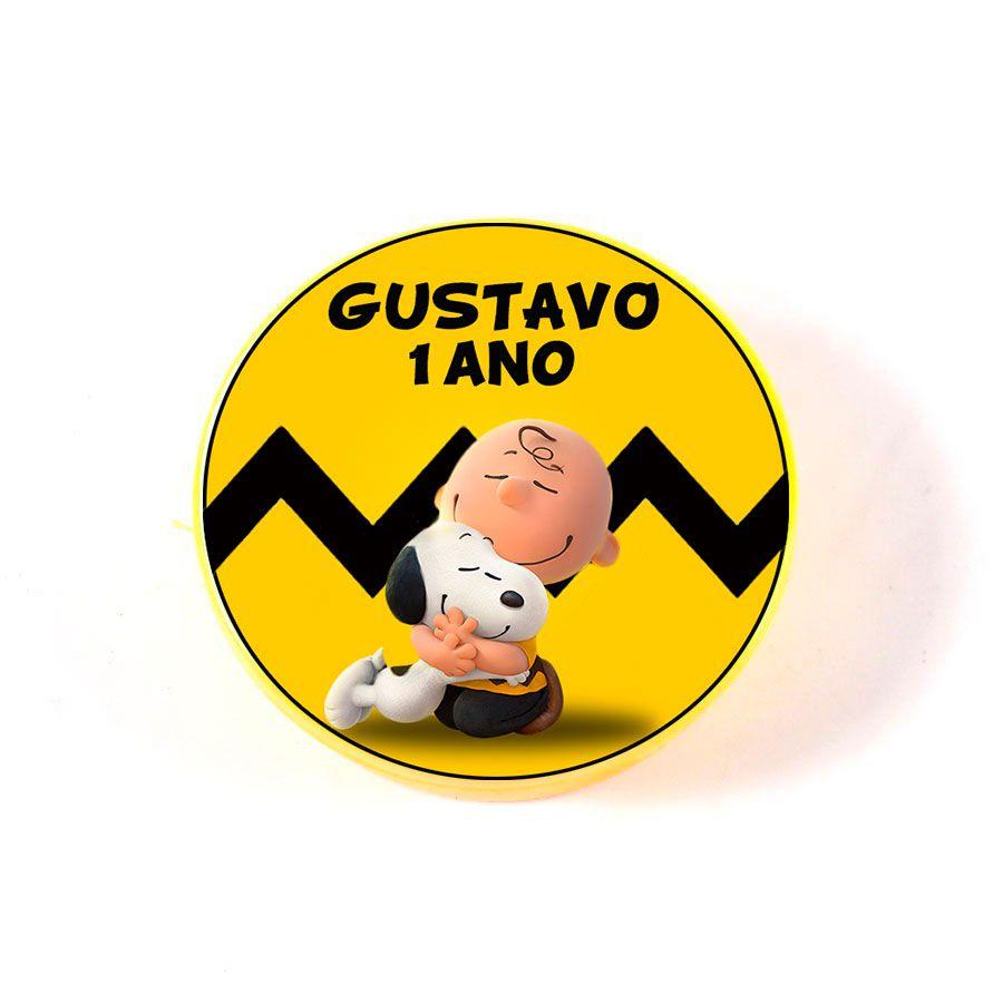 Lembrancinha Potinho Plástico Personalizado Snoopy