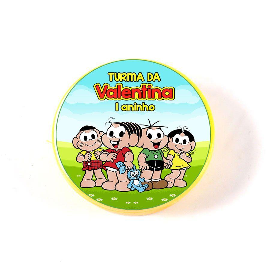 Lembrancinha Potinho Plástico Personalizado Turma da Mônica