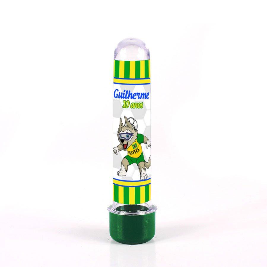 Lembrancinha Tubete Personalizado Mascote Copa do Mundo 13cm
