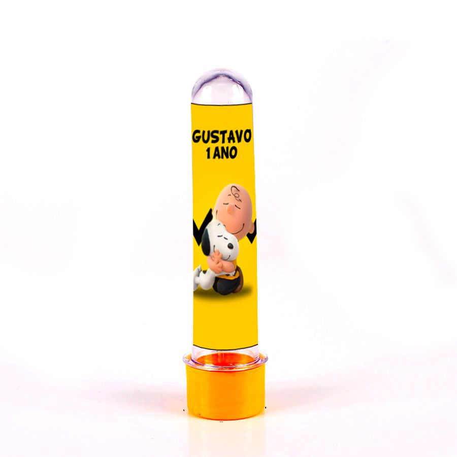 Lembrancinha Tubete Personalizado Snoopy 13cm