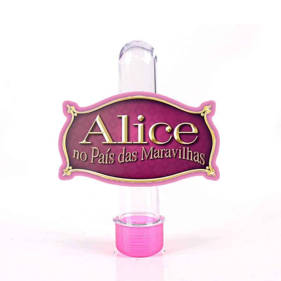 Lembrancinha Tubete Alice no Pais das Maravilhas