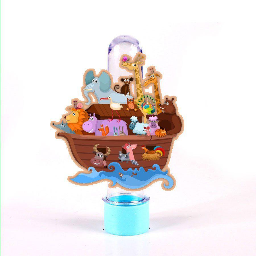 Tubete 3D Arca de Noé Kids para Lembrancinha