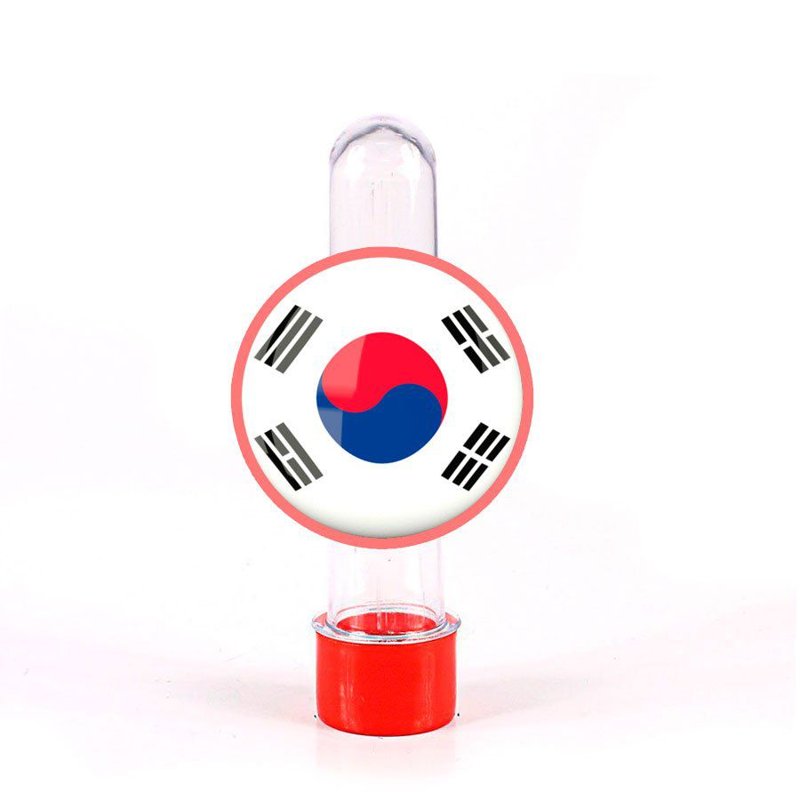 Lembrancinha Tubete Bandeira da Coreia do Sul