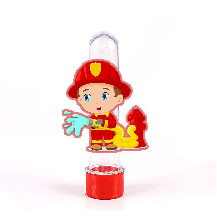Lembrancinha Tubete Bombeiro Hidrante