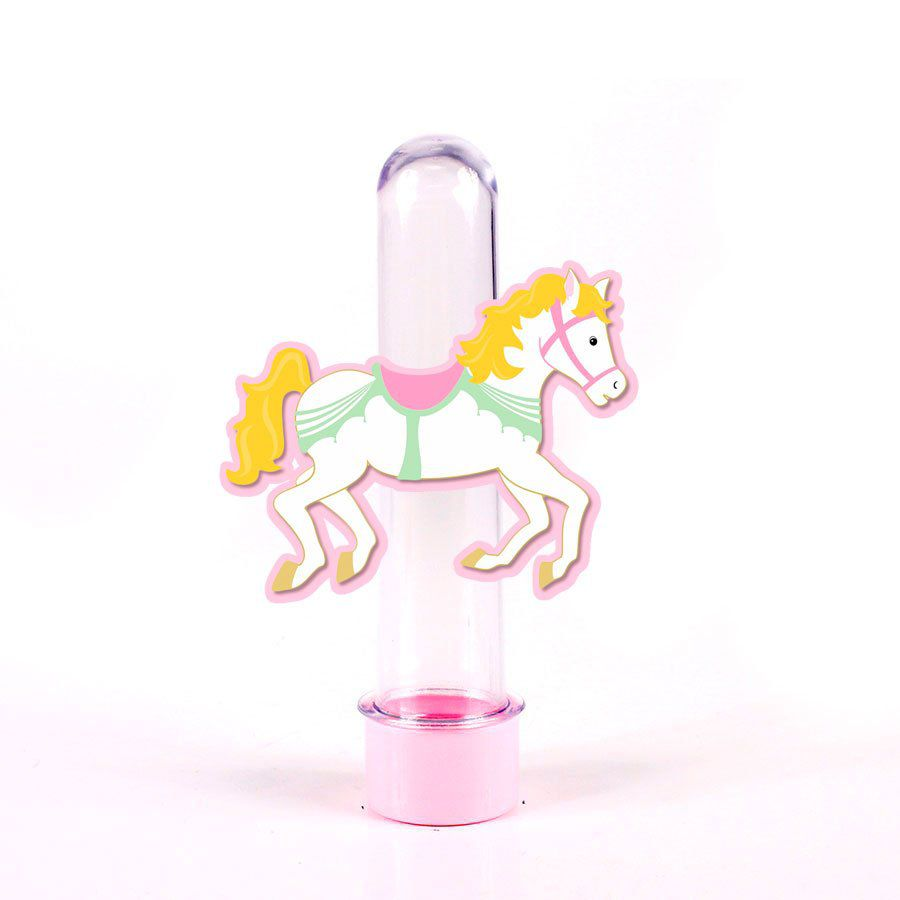Lembrancinha Tubete Carrossel Encantado Cavalo