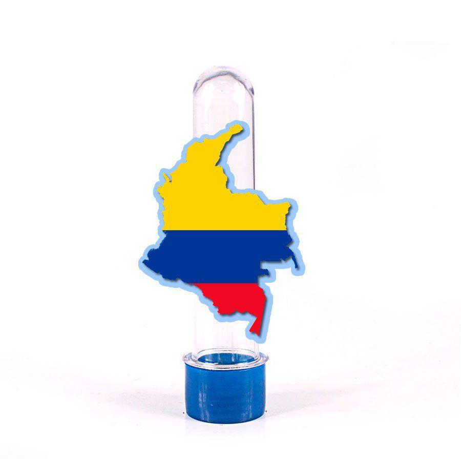 Lembrancinha Tubete Colômbia Mapa