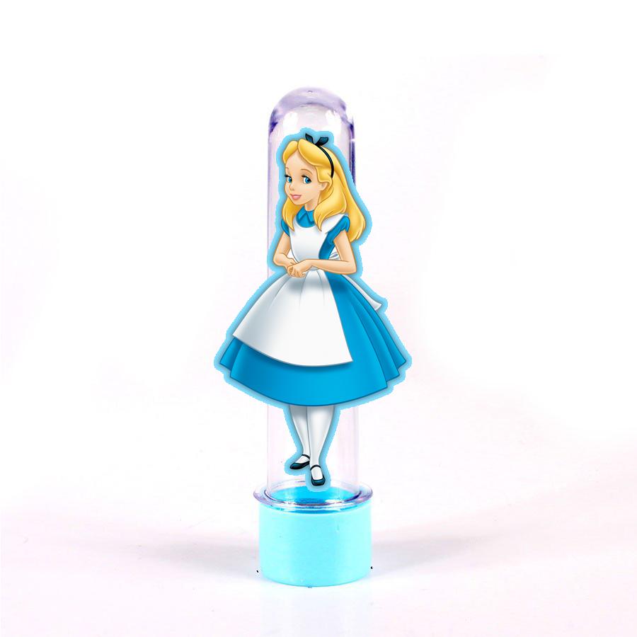 Tubete 3D Alice no Pais das Maravilhas para Lembrancinhas