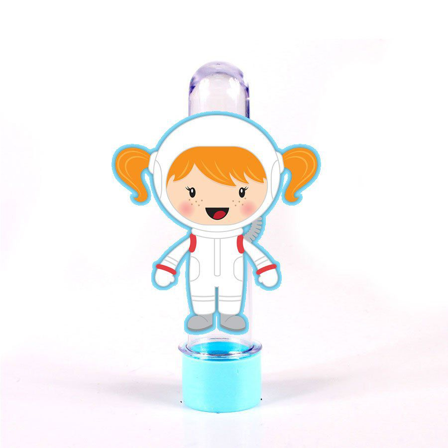 Lembrancinha Tubete Personagem Astronauta Menina