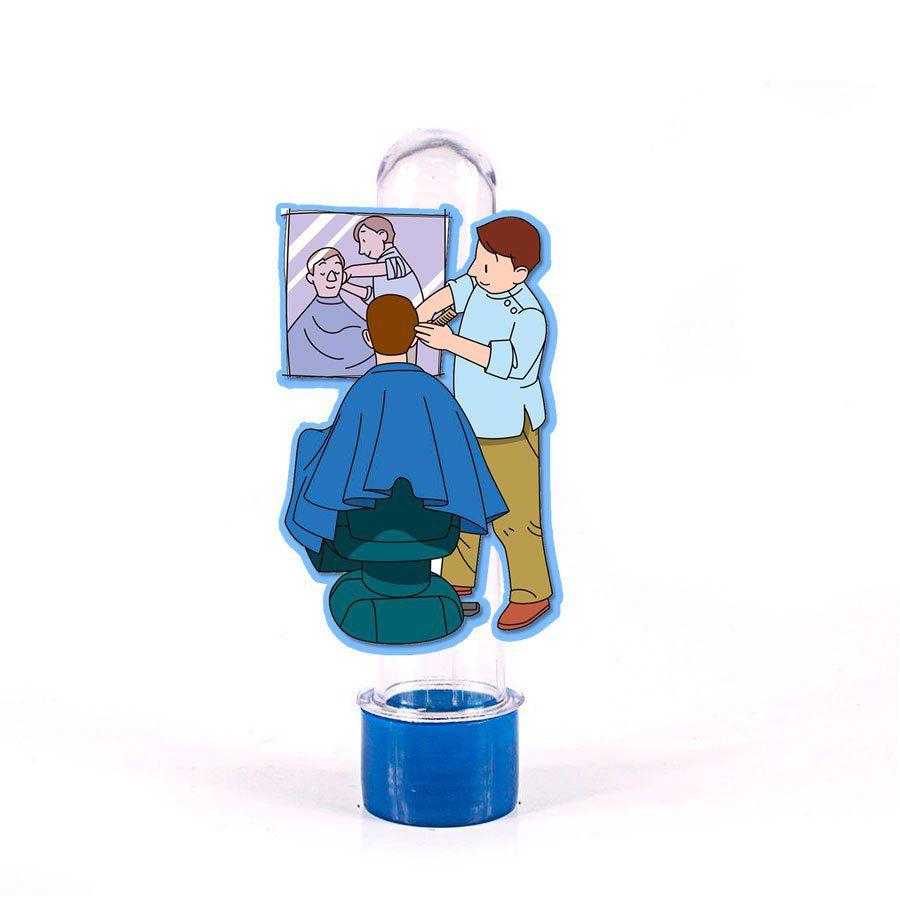 Lembrancinha Tubete Personagem Cabeleireiro Cadeira