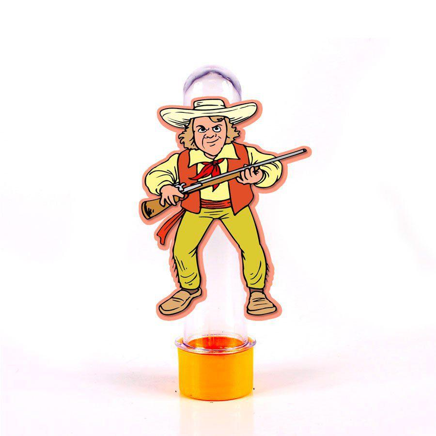 Lembrancinha Tubete Personagem Caçador com Chapéu
