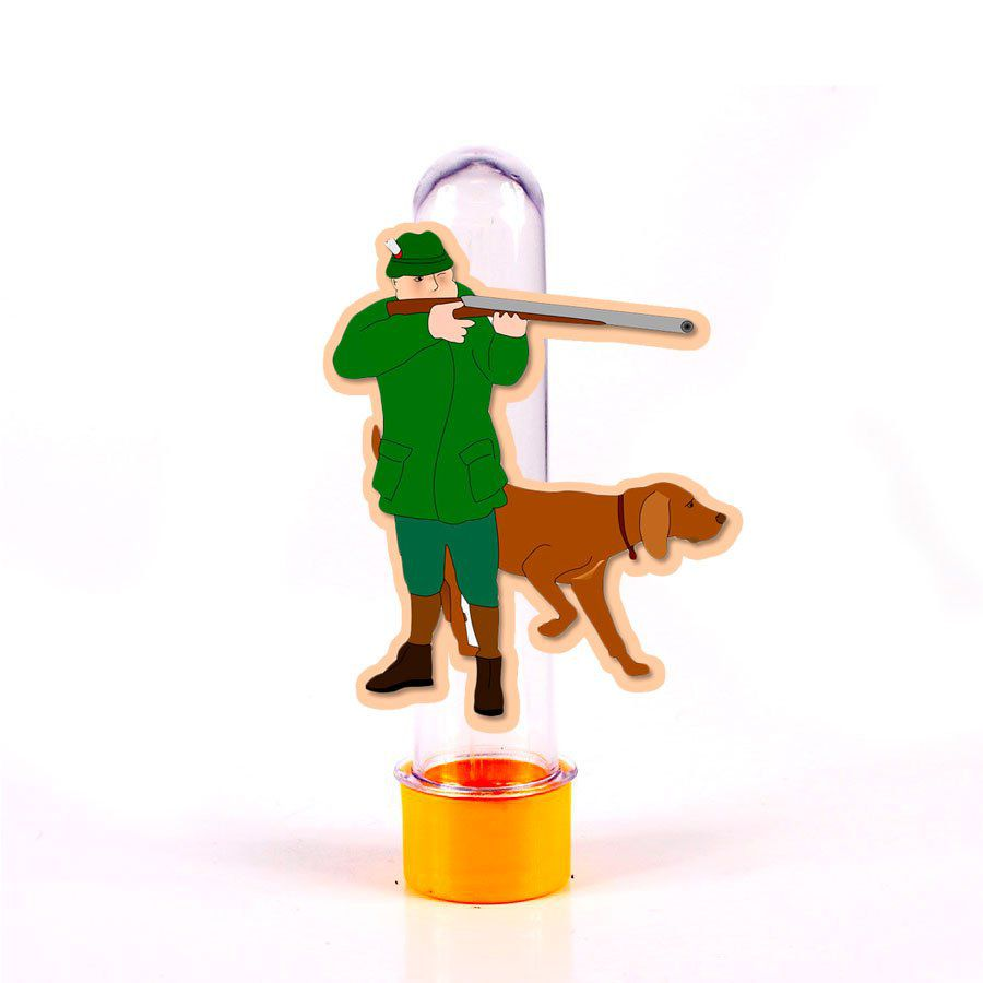 Lembrancinha Tubete Personagem Caçador e Cachorro