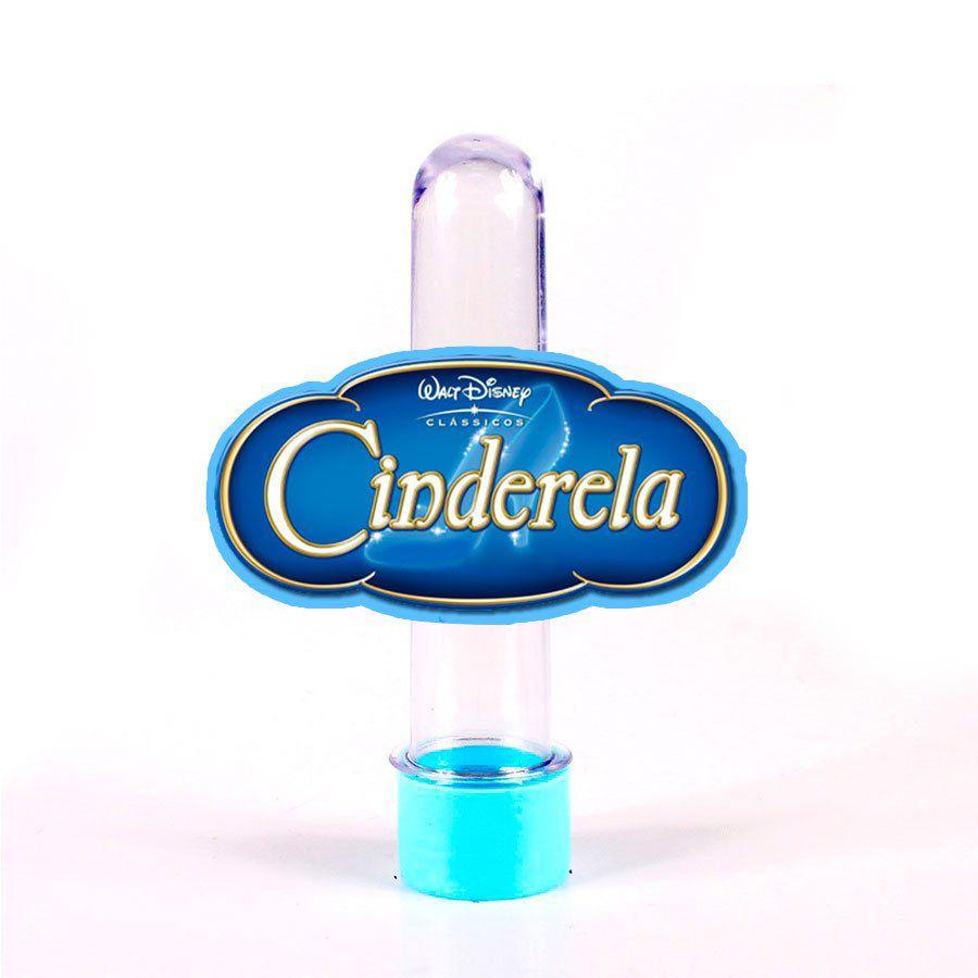 Lembrancinha Tubete Personagem Cinderela Logo