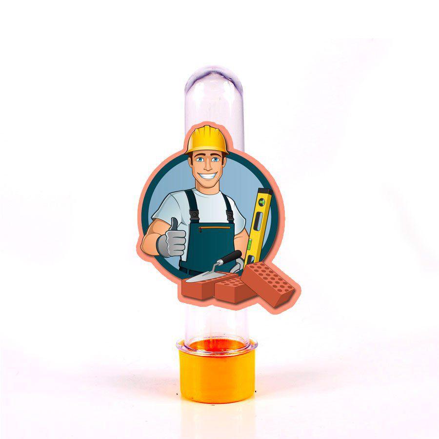 Lembrancinha Tubete Personagem Construtor Tijolo