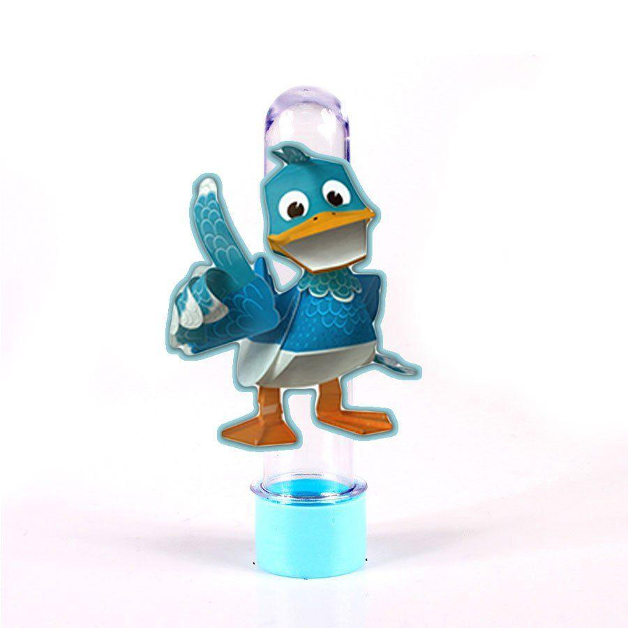 Lembrancinha Tubete Personagem Quack do Zack e Quack
