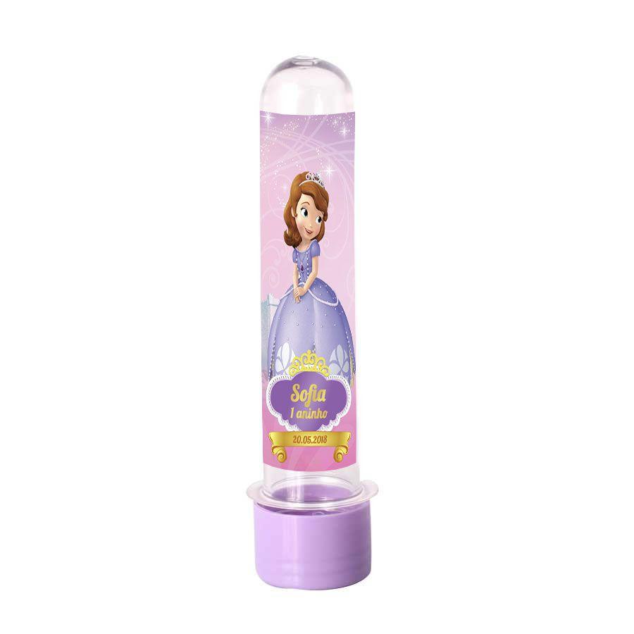 Lembrancinha Tubete Personalizado Princesinha Sofia 13cm