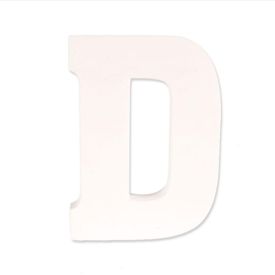 Letra D em EVA Provençal Branca