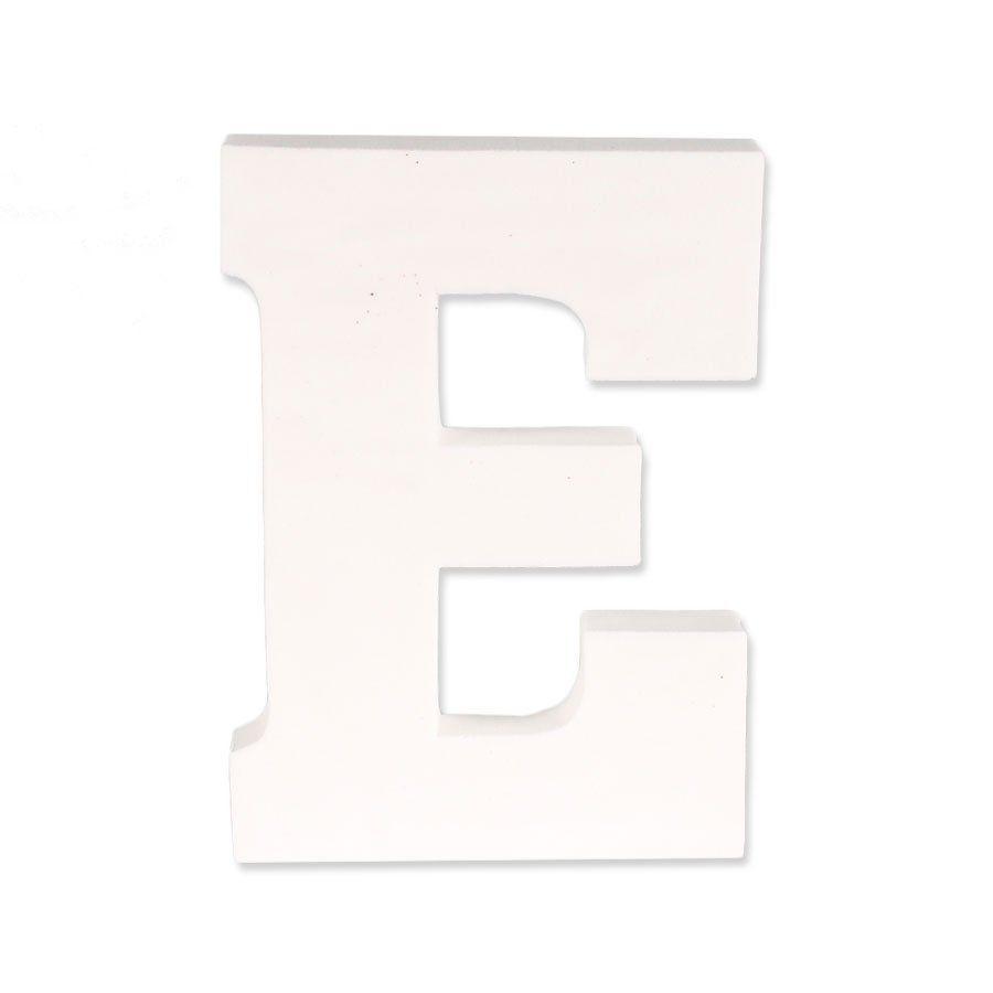 Letra E em EVA Provençal Branca