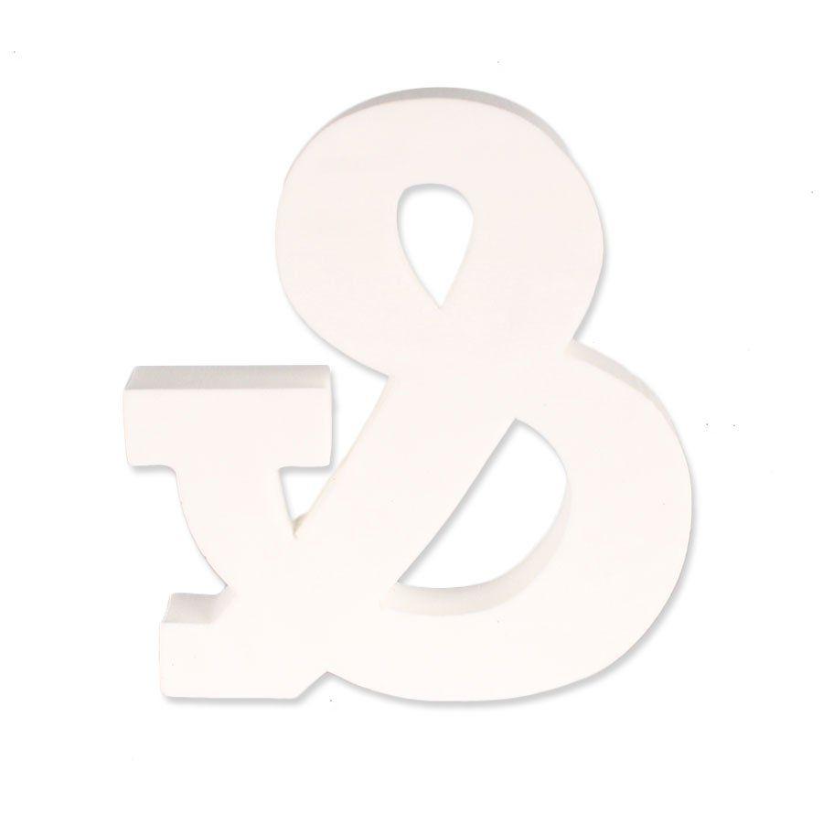Símbolo E Comercial em EVA Provençal Branco
