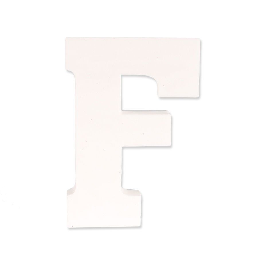Letra F em EVA Provençal Branca