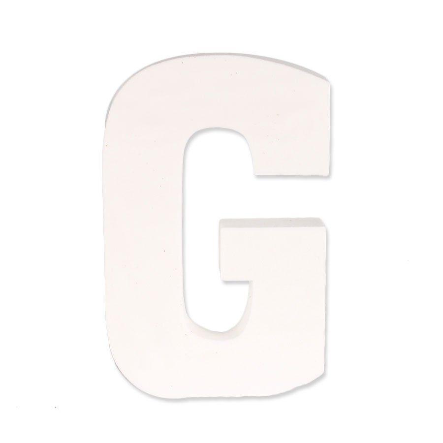 Letra G em EVA Provençal Branca
