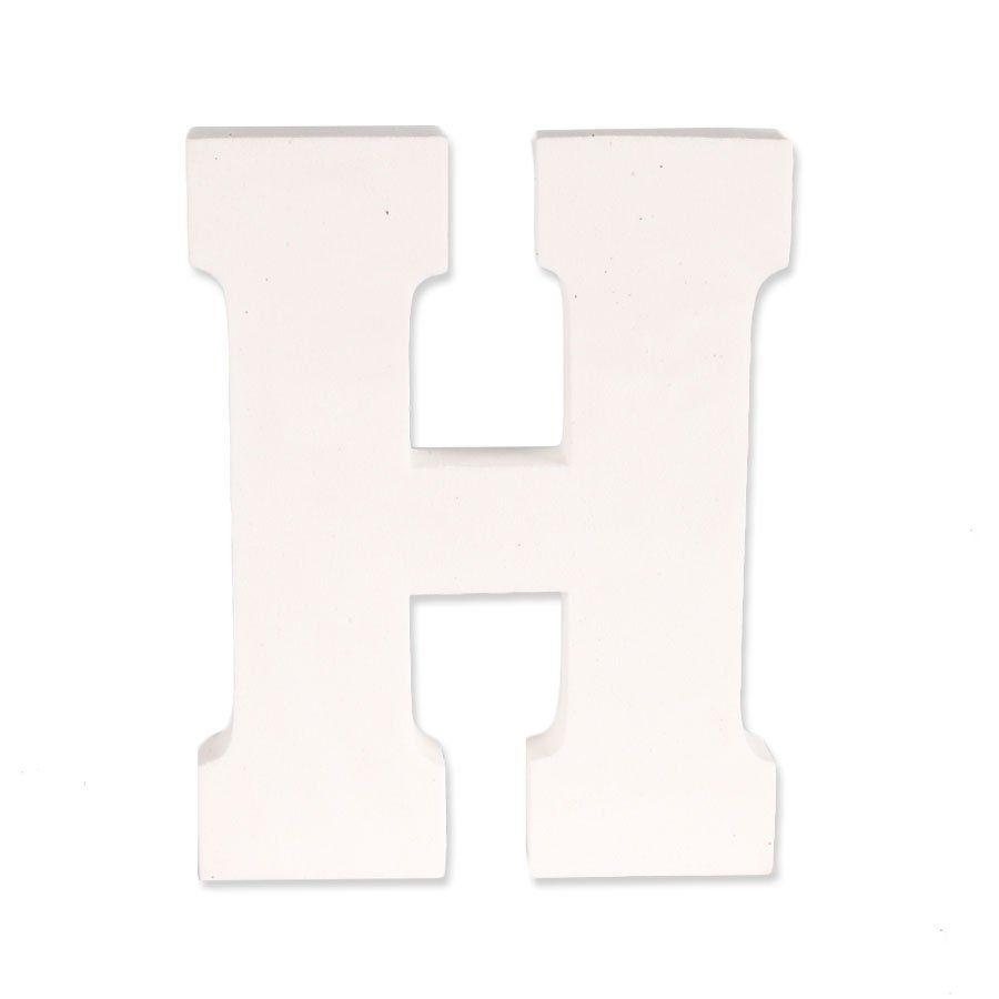 Letra H em EVA Provençal Branca