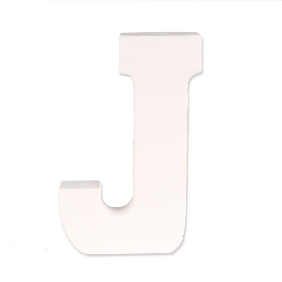 Letra J em EVA Provençal Branca
