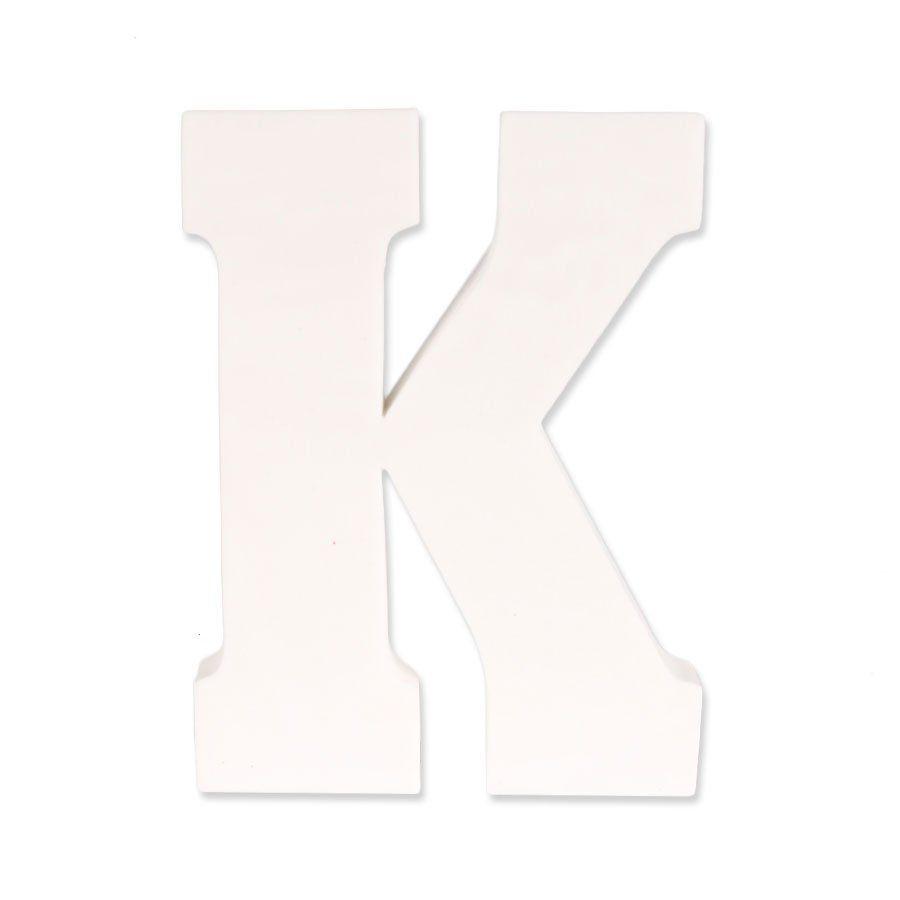 Letra K em EVA Provençal Branca